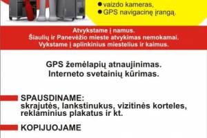 GPS remontas ir prekyba. Žemėlapių atnaujinimas Panevėžyje ir Šiauliuose