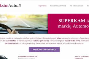 Superkame įvairių markių ir metų automobilius