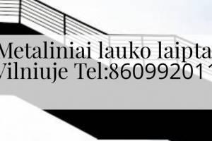 metaliniai lauko laiptai Vilniuje